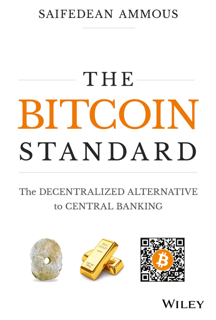 Coverpage of the book titled The Bitcoing Standard